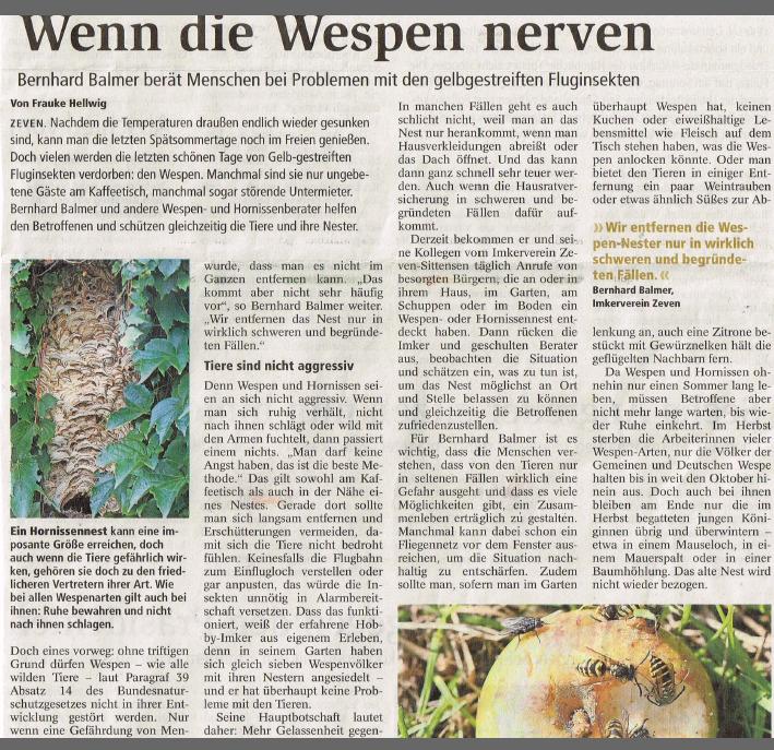 Die Zevener Zeitung berichtet…